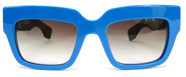 PRADA Blue Acetate Cat Eye Sunglasses w/ Case