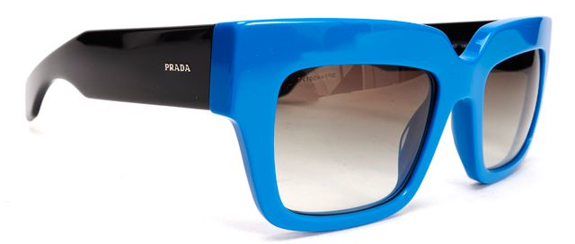 PRADA Blue Acetate Cat Eye Sunglasses w/ Case
