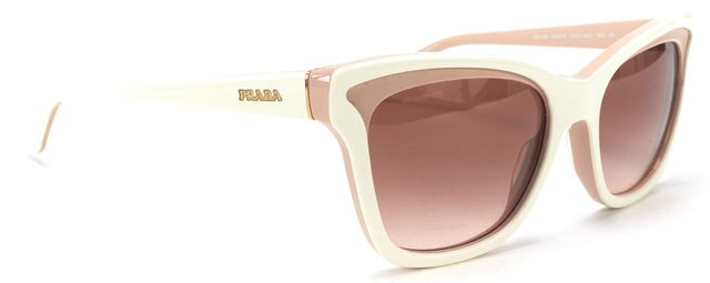 PRADA S/S 16' Pink White Acetate Tinted Cat Eye Sunglasses w/ Case