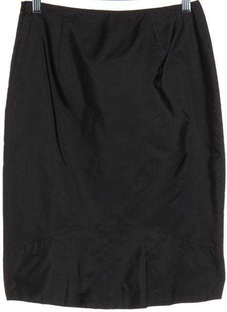 PRADA Black Straight Skirt