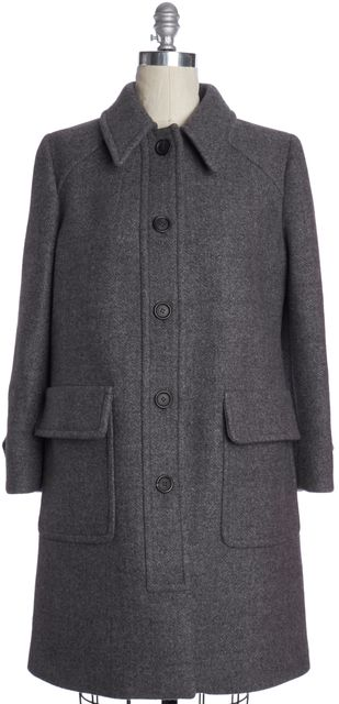 PRADA Gray Wool Peacoat