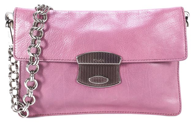 PRADA Purple Leather Small Shoulder Bag
