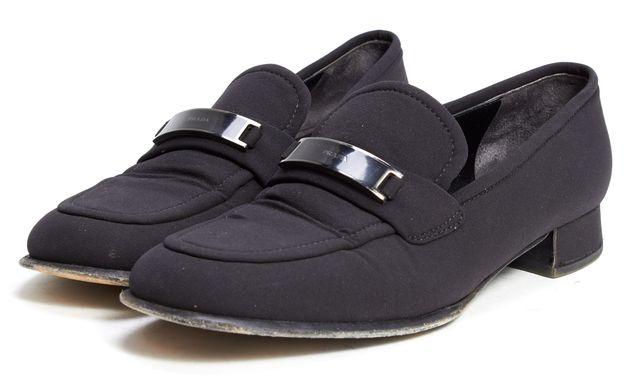 PRADA Black Fabric Loafers