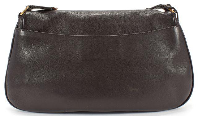 PRADA Brown Gold Leather Chain Strap Shoulder Bag