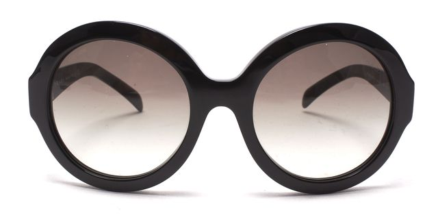PRADA Black Acetate Gradient Round Sunglasses