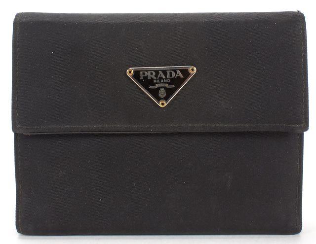 PRADA Black Tessuto Nylon Bifold Wallet