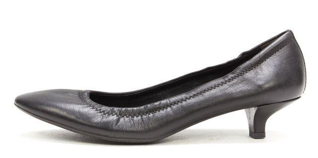 PRADA Black Leather Kitten Heel