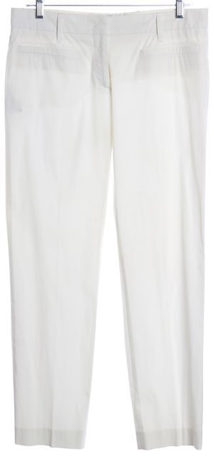 PRADA White Cotton Casual Pants