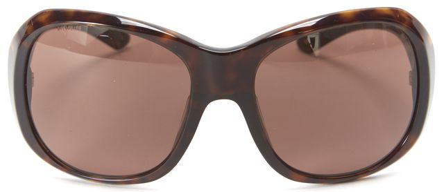 PRADA Brown Tortoise Acetate Frame Square Sunglasses
