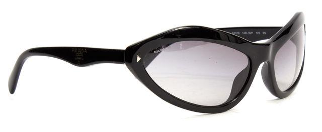 PRADA Black Acetate Frame Gradient Lens Sunglasses w/ Case