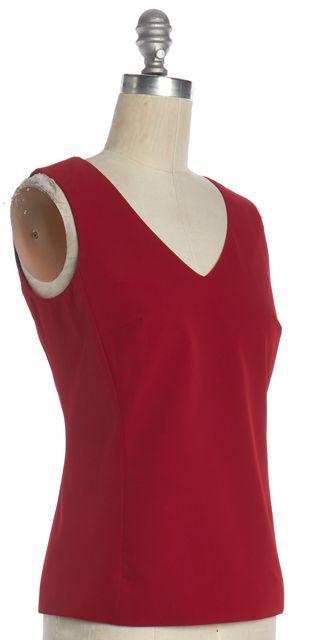 PRADA Red V-Neck Sleeveless Blouse
