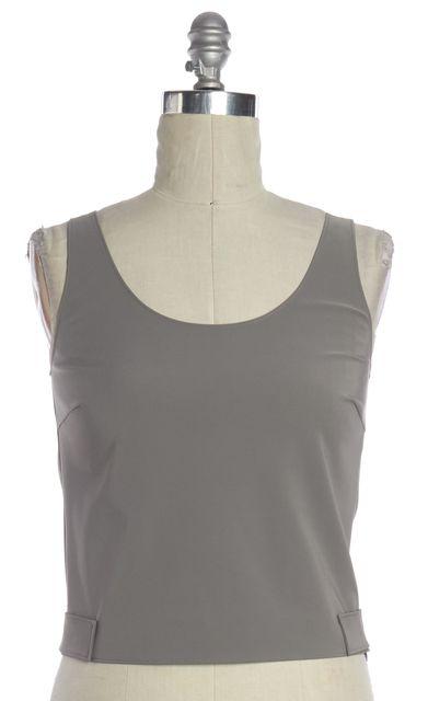 PRADA Gray Velcro Strap Sleeveless Blouse