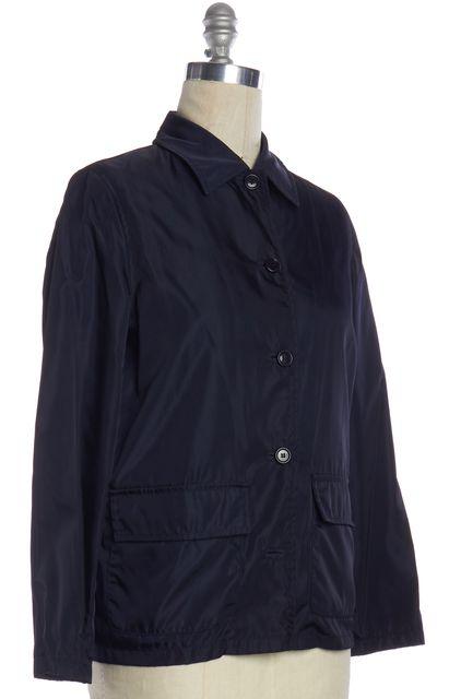 PRADA Navy Blue Nylon Zip Up Jacket