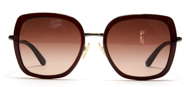 PRADA Brown Acetate Metal Frame Square Sunglasses