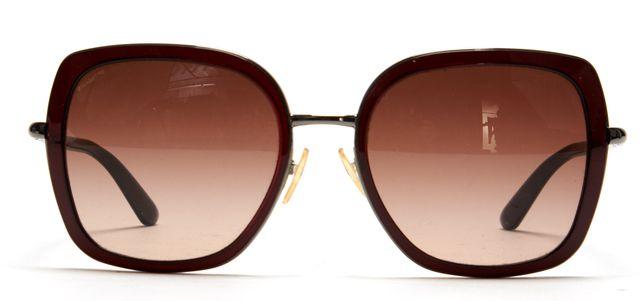 PRADA Brown Acetate Metal Frame Square Sunglasses