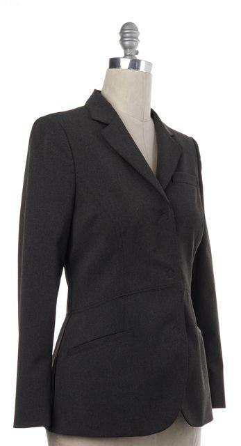 PRADA Gray Snap Button Down Blazer Jacket