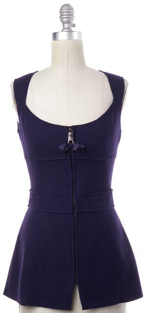 PRADA Purple Wool Vest Top