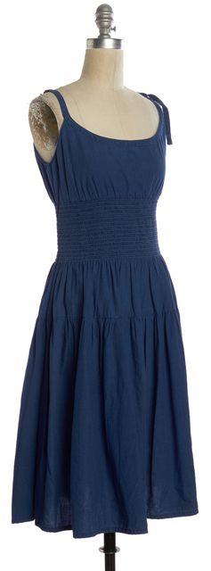 PRADA Blue Dark Wash Denim Blouson Dress