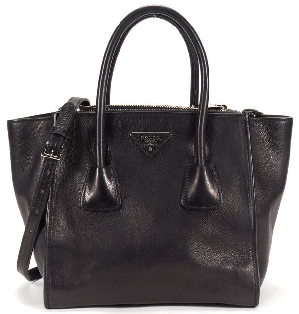 PRADA Black Small Twin Pocket Tote Bag