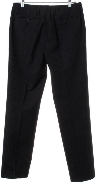 PRADA Gray Blue Wool Trouser Pants