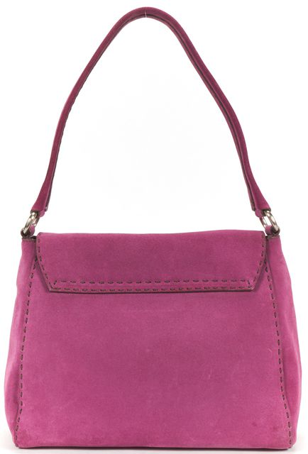 PRADA Purple Suede Shoulder Bag