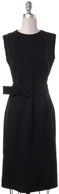 PRADA Black Belted Sheath Dress