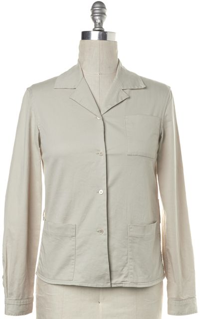 PRADA Ivory Basic Casual Button Front Light-Weight Jacket