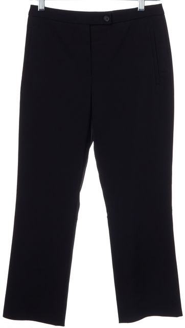PRADA Black Cropped Slim Leg Trousers Pants