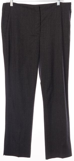 PRADA Gray Black Wool Blend Pants
