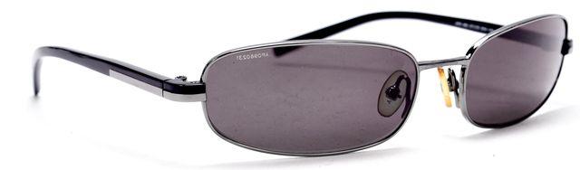 PRADA Black Metal Acetate Almond Oval Shape Sunglasses