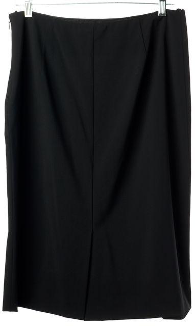 PRADA Black Wool Knee Length Straight Skirt