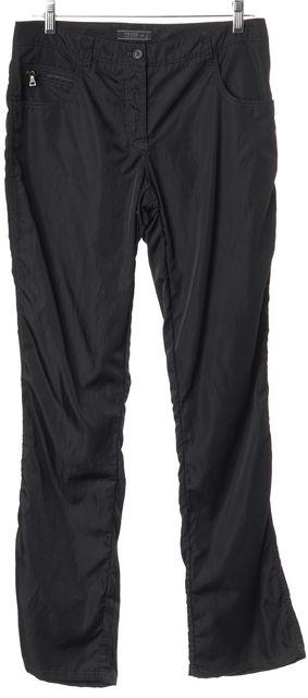 PRADA Black Blue Stitched Windbreaker Pants