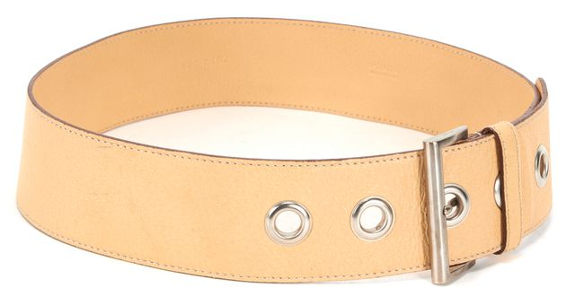 PRADA Beige Wide Leather Belt