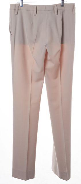 PRADA Blush Pink Wool Pleated Trouser Dress Pants
