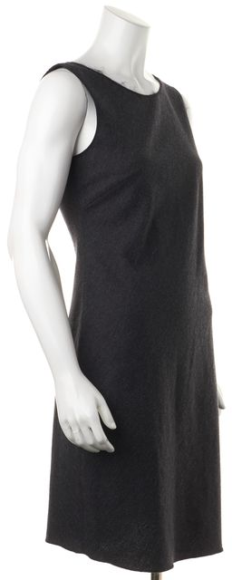 PRADA Gray Wool Sleeveless Sheath Dress
