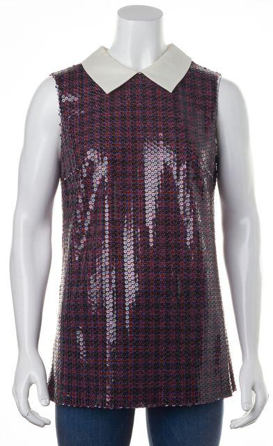 PRADA Multi-Color Sequin Blouse Top