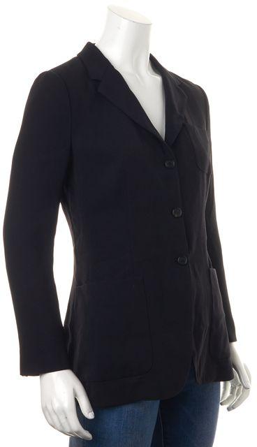 PRADA Navy Blue Pocket Front Three Button Blazer