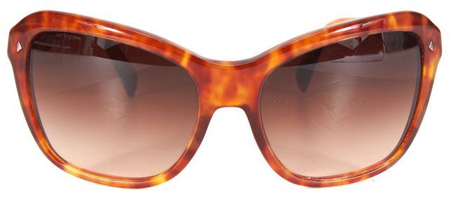 PRADA Brown Square Acetate Gradient Sunglasses