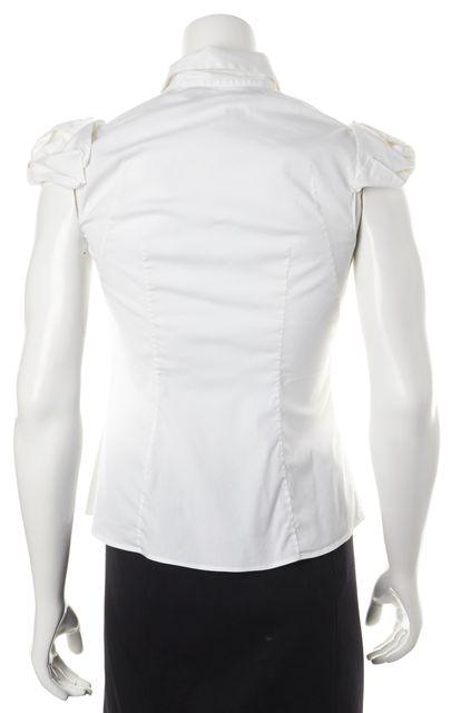 PRADA White Button Down Shirt Top