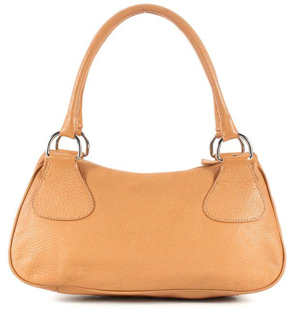 PRADA Beige Pebbled Leather Silver Hardware Shoulder Bag