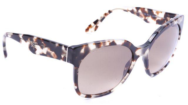 PRADA Gray Brown Acetate Gradient Square Sunglasses