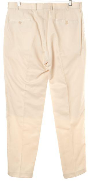 PRADA Ivory Pleated Trouser Dress Pants