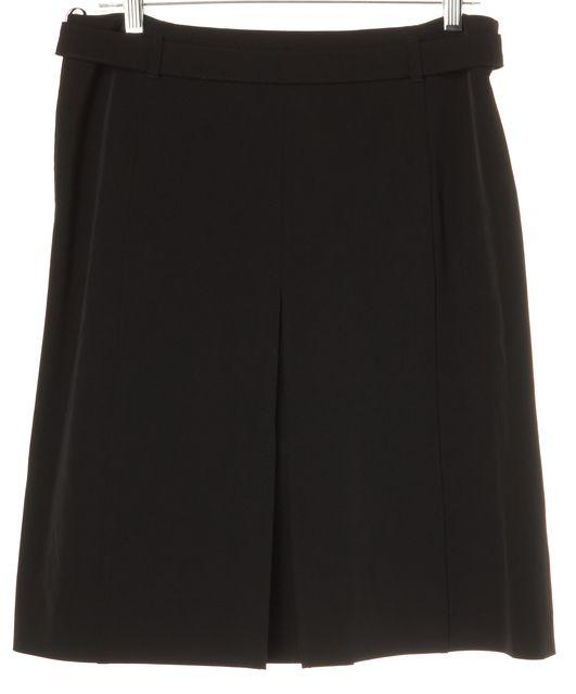 PRADA Black A-Line Waist Belt Skirt