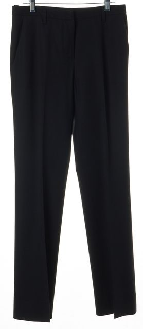PRADA Black Wool Pleated Trouser Dress Pants