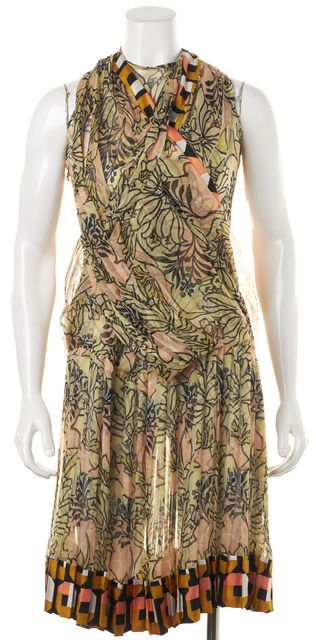PRADA Multi-color Floral Sheath Dress