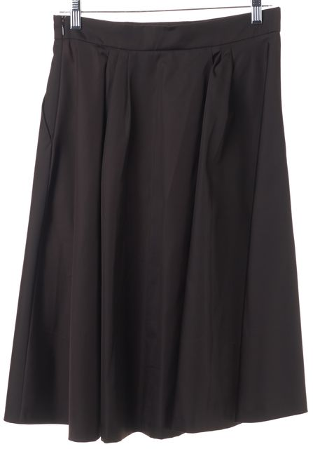 PRADA Brown Pleated Skirt