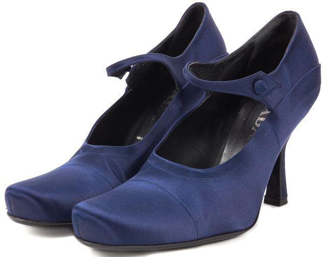 PRADA Navy Blue Satin Pump Heels