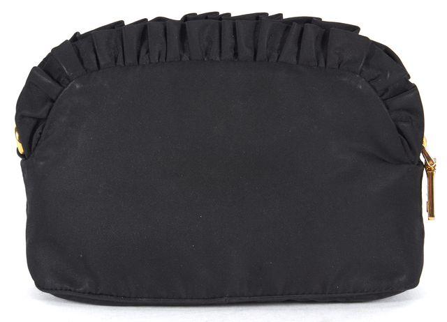 PRADA Black Nylon Pouch Cosmetic Bag