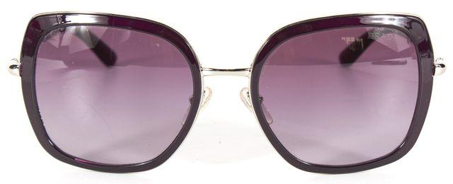 PRADA Purple Acetate Gradient Square Sunglasses w/ Case