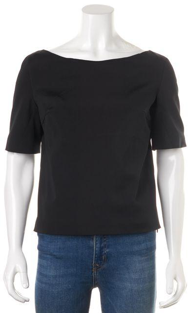 PRADA Black Short Sleeve Blouse Top
